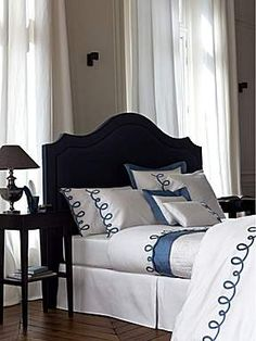 Luxury Bedding: bed linens, coverlets, and duvet covers - Yves Delorme Online Outlet Beautiful Sheets, Blue Decor, Home, Hotel Bedding Design, Luxury Linen, Bedding Sets Online, Bed, Luxury Bedding, Interior Design