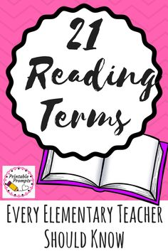 21 Reading Terms Every Teacher Should Know