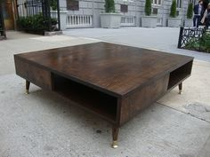 Custom Made Mid Century Modern Inspired Coffee Table