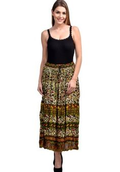 Fashozz Exclusive Mehendi Color Cotton Prinnter Skirt Buy Skirts Online, Weird Fashion, Fashion Deals, Online Shopping For Women, Mehendi, Party Wear, Lace Skirt, Womens Fashion, How To Wear
