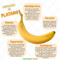 10 propiedades del plátano que te van a sorprender   Platano, Propiedades, Salud ComeFruta Banana Health Benefits, Real Food Recipes, Healthy Recipes, Tai Chi, Fruit, Snack, Runners, Keto, Vitamins