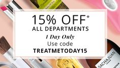 Hurry 15% Off - Today Only