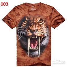 79e96c045a1c HOT New Men s THE MOUNTAIN 3D T-Shirt animals solid 3D TEE short sleeve T-shirts  shirt tiger