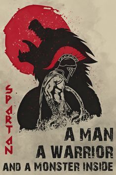 Warrior quotes - A Monster Inside Warrior Poster Spartan Quotes, Samurai Quotes, Wisdom Quotes, Life Quotes, Spartan Tattoo, Spartan Warrior, Military Quotes, Memorial Tattoos, Warrior Quotes