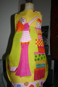 tablier enfant réversible mes création caprices et compagnie Apron, Creations, Backpacks, Bags, Handbags, Backpack, Aprons, Backpacker, Bag