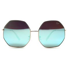 Quay Australia Kiss and Tell Sunglasses in Rose Gold/Blue