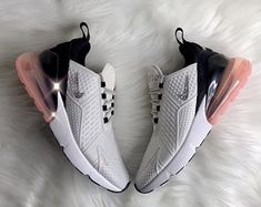 Check out our nike air max 270 selection for the very best in unique or custom, handmade pieces from our sneakers & athletic shoes shops. Sneakers Fashion Outfits, Mode Outfits, Fashion Shoes, Souliers Nike, Shoe Boots, Shoes Heels, High Heels, Nike Air Shoes, Aesthetic Shoes