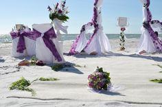 Flieder Lila Hochzeit Stranddekoration