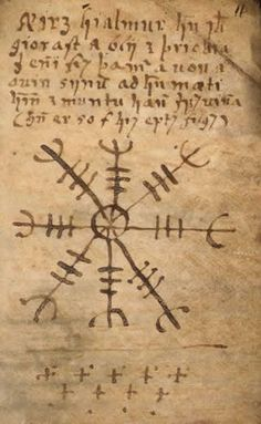 """an-erotic-alchemy: """" The traditional Occult Symbol – Aegishjalmur commonly referred to as the """"helm of awe"""" is a an ancient Scandinavian runic viking symbol. The symbol is said be worn over the. Occult Symbols, Viking Symbols, Ancient Symbols, Viking Runes, Witchcraft Symbols, Mayan Symbols, Occult Art, Egyptian Symbols, The Helm Of Awe"""