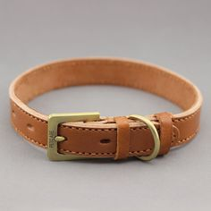 High-quality first layer of leather pet collars dog collar leather dog collar chain complex bronze buckle