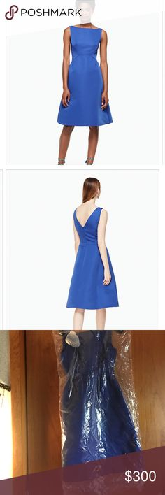Beautiful kate dress worn 1 time Dress comes with detachable flower. Super cute and flattering. Perfect for a summer wedding kate spade Dresses