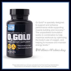 In the upcoming weeks, O2 Gold® will be getting a makeover – it's the same formula, but with a shortened name and sleek black packaging. Many people already incorporate O2 Gold® into their workout routine, so it is a natural fit with the Performance Elite line. Use this graphic to tell your friends about the benefits of O2 Gold®!