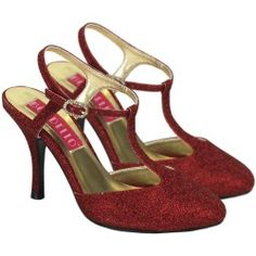Glitter Red Shoes - Costume Shoes
