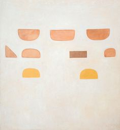 William Scott, Egypt Series (No. 5), 1972, Oil on canvas, 256 × 236.2 cm / 101 × 93 in, Private collection
