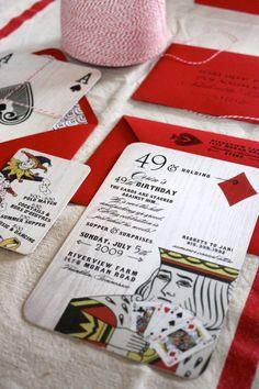 custom event invitation design // birthday - anniversary - graduation - fundraiser - casino night