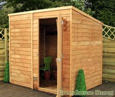 Cotswold Overlap Windowless 7x5 Pent Shed Cladding  http://www.greenhousestores.co.uk/Cotswold-Overlap-Windowless-7x5-Pent-Shed.htm