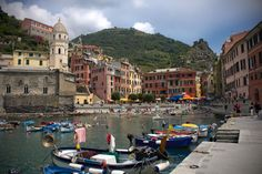 Vernazza, Cinque Terre   we stayed at pink building in center.