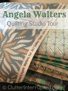 Angela Walters Quilting Studio Tour at ClutterInterrupted.com