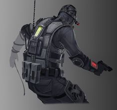 View an image titled 'Spectre, Backside Art' in our Resident Evil: Operation Raccoon City art gallery featuring official character designs, concept art, and promo pictures. Resident Evil, Character Creation, Character Design, Operation Raccoon City, Biohazard, Female Armor, City Art, Dark Fantasy, Science Fiction