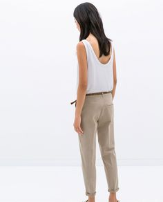 MULTICOLORED CHINO TROUSERS - Trousers - WOMAN | ZARA Serbia