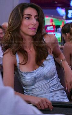 Delia's silver bandage dress on Girlfriends Guide to Divorce.  Outfit Details: https://wornontv.net/43237/ #GG2D