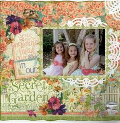 Project Ideas for Graphic 45 - Secret Garden Collection - 12 x 12 Double Sided Paper - May Flowers, Scrapbook Background, Scrapbook Pages, Scrapbooking, Project 4, Project Ideas, Image Layout, May Flowers, Easter Dress, Graphic 45