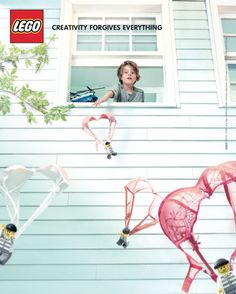 Creative and funny ad that is targeted towards adults. Usually Lego targets it's television commercials to children. However, this print ad seems to be a humorous ad targeted towards parents portraying the wacky things that kids do.
