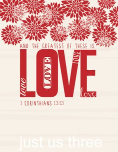 And the Greatest of These is Love - Free Valentine's Day Printables at @anightowlblog