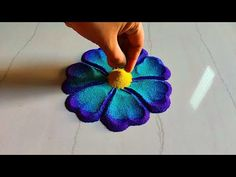 Design Discover Beautiful and innovative flowers rangoli designs with colours Rangoli Designs Flower, Rangoli Border Designs, Rangoli Ideas, Colorful Rangoli Designs, Rangoli Designs Diwali, Rangoli Designs Images, Flower Rangoli, Beautiful Rangoli Designs, Flower Designs