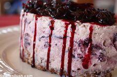 Cheesecake de flor de jamaica! delicioso!
