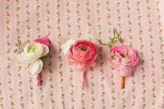 Vintage Valentine's Boutonnieres.  bows + arrows flowers and nbarrett photography.