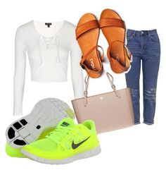 """""""Untitled #483"""" by heden-fun ❤ liked on Polyvore featuring Topshop, Tory Burch and NIKE"""