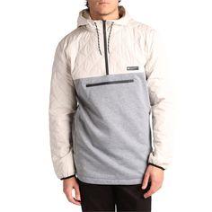 DC Barricade Technical Half-Zip Hoodie Half Jacket, Camo Men, Diamond Quilt, Dress For Success, Ms Gs, Large White, Hand Warmers, Zip Hoodie, Snowboarding