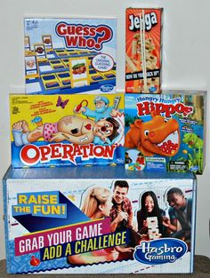 We were told to raise the fun with Hasbro games and want you to do it also! Enter to #WIN 8 classic Hasbro games. So much fun in one box.
