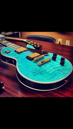 Aqua Les Paul Guitar Great color www.mpdacrylics.com