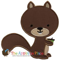 Squirrel Machine Embroidery Applique Design by TheAppliquePlace, $3.00