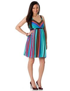Cute maternity dress...maybe for baby shower with shrug.