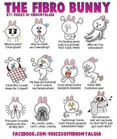 Fibro bunny #facts #Fibromyalgia