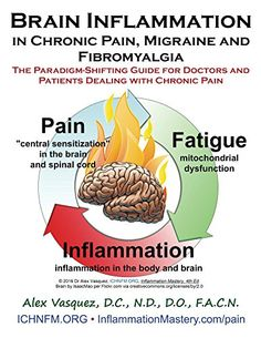 Brain Inflammation in Chronic Pain, Migraine and Fibromyalgia: The Paradigm-Shifting Guide for Doctors and Patients Dealing with Chronic Pain (Inflammation Mastery & Functional Inflammology) by [Vasquez, Alex] Chronic Fatigue Syndrome Diet, Chronic Fatigue Symptoms, Chronic Migraines, Adrenal Fatigue, Chronic Illness, Chronic Pain, Chronic Tiredness, Adrenal Glands, Tension Headache