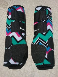 Classic Equine Legacy Boots TEAL CHEVRON FRONT Horse Tack SMB Sport Medicine. I need these!