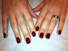 Jessica GELeration in Cherrywood. Gelish Nails, Red Nails, Hair And Nails, Jessica Geleration, Champagne Nails, Nail Polish Art, Red Dragon, Nail Colors, Colours