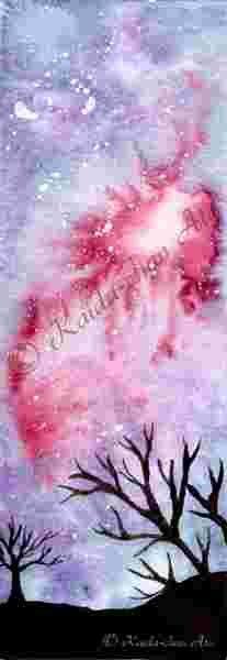 Lesezeichen 6 Print Aquarell Lesezeichen von BinesBastelstube