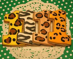 Lion king themed birthday party. Decor / food ideas. One Preppy Cookie: Animal Print
