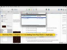 iBooks Author tutorial: Adding a text pop-over | lynda.com