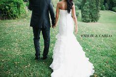 Emilie e Carlo escolheram os jardins e os salões do luxuoso Hotel Kempinski, em Genebra, para o seu casamento. Fotos: Nadia Meli
