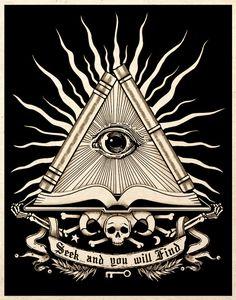 All Seeing Eye Esoteric Alchemy Art Print Gothic Macabre Dark Mystic Esoteric Tattoo, Esoteric Art, Eye Tattoo Meaning, Tattoos With Meaning, Rundes Tattoo, Masonic Tattoos, Freemason Tattoo, All Seeing Eye Tattoo, Third Eye