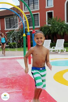 Nothing but fun & smiles when you stay at Legacy Vacation Resorts. #splashpad #smiles #orlando