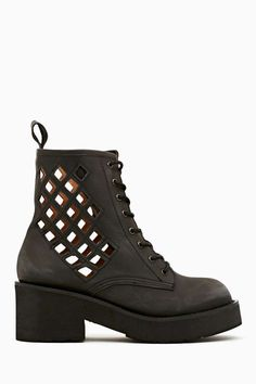 Nasty Gal x Jeffrey Campbell Pixel Cutout Boot.. with cute colorful socks please!