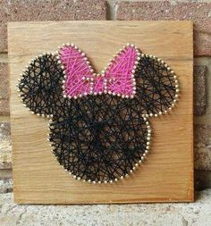 Minnie Mouse Inspired String Art Set Custom by NailedItArtistry String Wall Art, Nail String Art, String Crafts, Disney Diy, Disney Crafts, Disney String Art, Crafts To Make, Arts And Crafts, Arte Linear