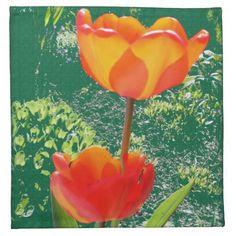 Orange Flower Napkins #Flower #Napkin